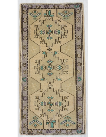Pastel Mini Decorative Oushak Carpet
