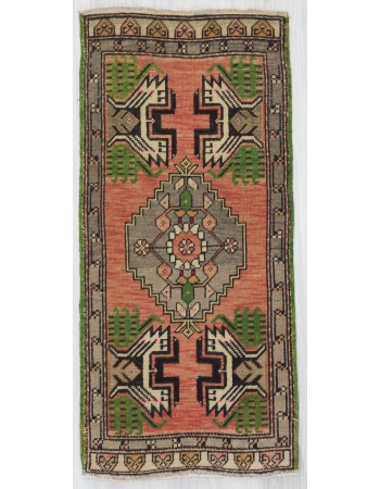 Vintage Decorative Mini Turkish Oushak Carpet