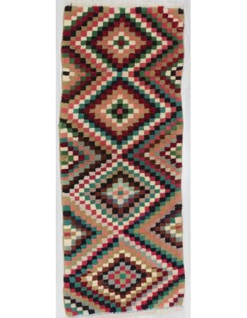 Vintage Colorful Decorative Turkish Carpet