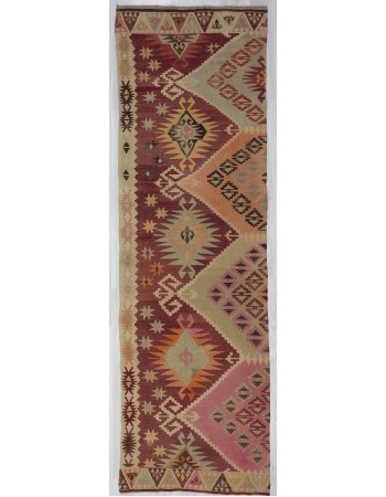 Vintage Decorative Turkish Kilim Runner