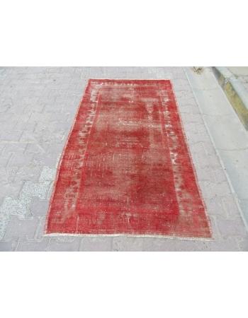 Overdyed Rust Vintage Turkish Carpet