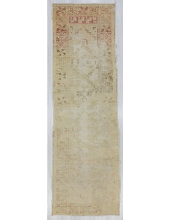 Distressed Worn Turkish Runner Rug