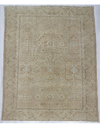 Washed Out Large Vintage Persian Rug