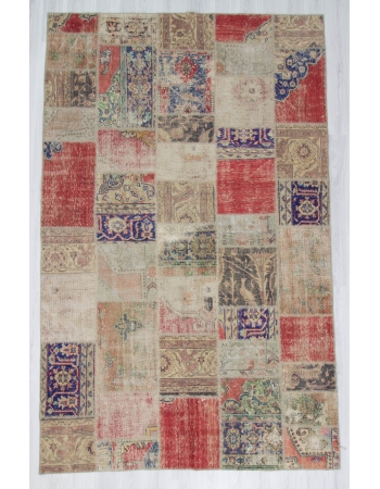 Vintage Large Decorative Patchwork Rug