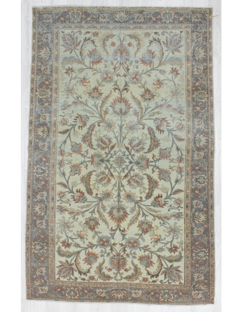 Washed out Distressed Persian Tabriz Rug