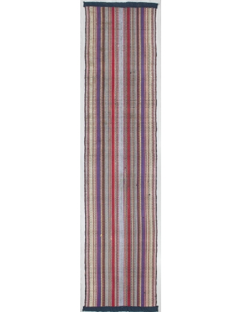 Hand Loomed Vertical Striped Kilim Rug