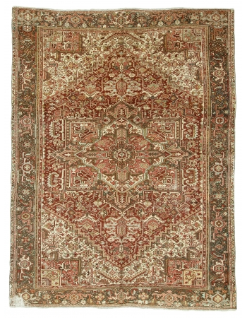 Washed Out Vintage Persian Hareez Rug