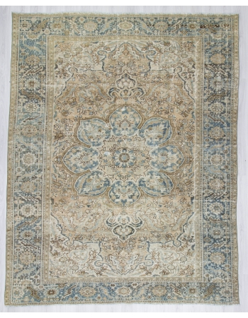Vintage Washed Out Persian Ghoravan Rug