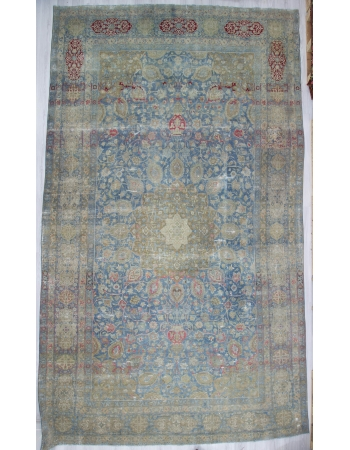 Oversized Antique Distressed Persian Tabriz Rug