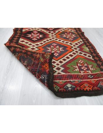 Embroidered Decorative Small Kilim Rug