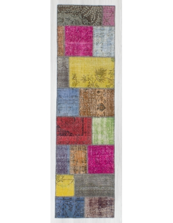 Vintage Colorful Patchwork Mini Runner