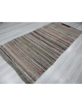 Striped Vintage Decorative Turkish Rag Rug