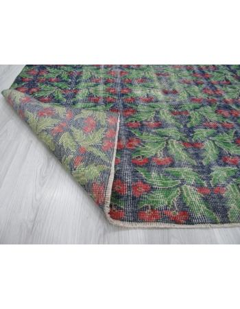 Floral Vintage Turkish Green Deco Rug