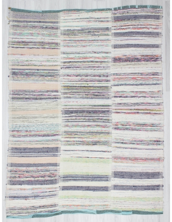 Vintage Striped Turkish Rag Rug