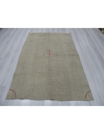 Vintage Unique Decorative Turkish Quilt Wool Rug