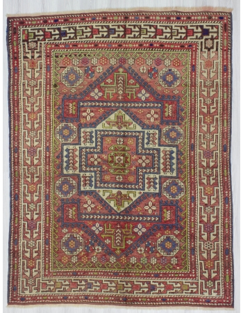 One of a Kind Vintage Turkish Wool Rug