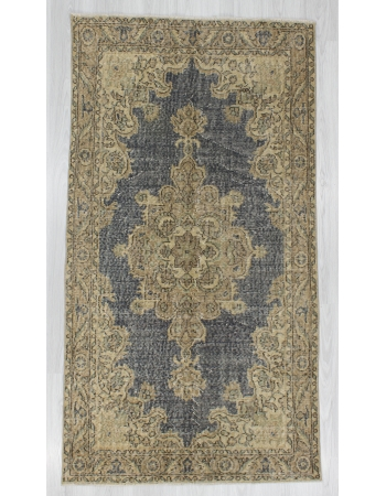 Washed Out Vintage Turkish Oushak Rug