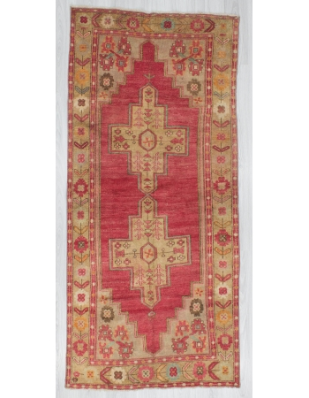 Vintage Decorative Turkish Wool Rug