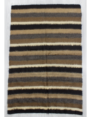Striped Vintage Turkish Blanket Kilim Rug