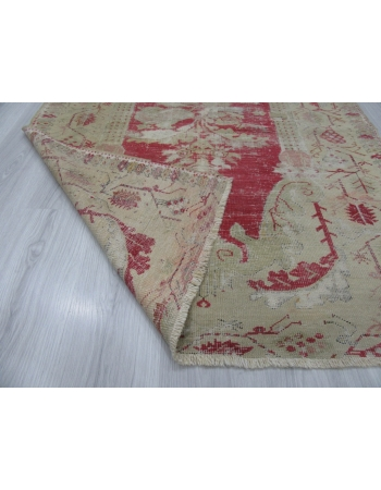 Worn Out Vintage Turkish Ghordes Rug