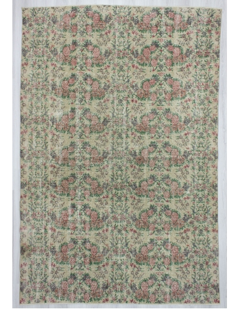 Vintage Floral Turkish Deco Rug