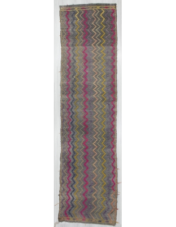 Vintage Embroidered Decorative Cotton Kilim Rug