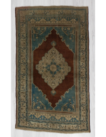 Vintage Washed Out Turkish Anatolian Rug