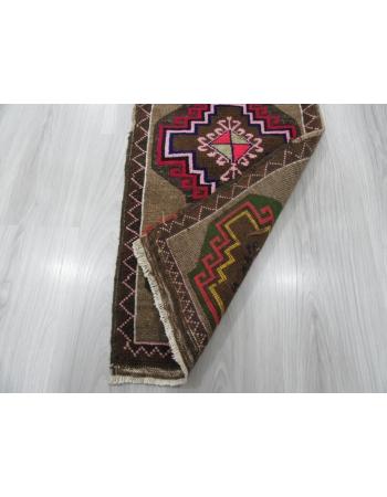 Vintage Geometric Mini Turkish Rug