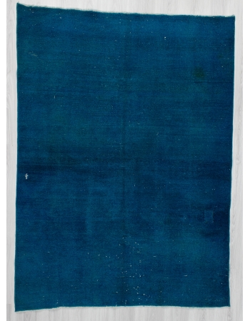 Dark Turquoise Overdyed Turkish Rug