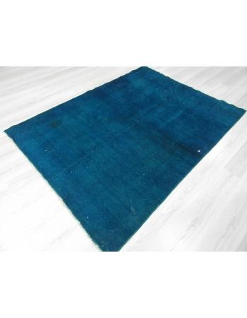 Dark Turquoise Overdyed Turkish Rug