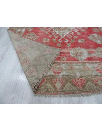Worn Out Vintage Turkish Rug