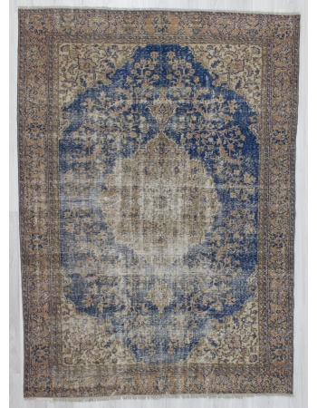 Distressed Vintage Unique Turkish Oushak Rug