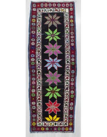 Vintage Decorative Turkish Runner Rug