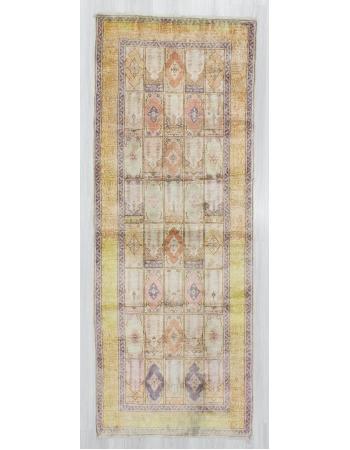 Vintage Turkish kayseri Artificial Silk Rug