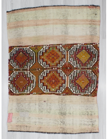 Handwoven Vintage Decorative Small Kilim Rug