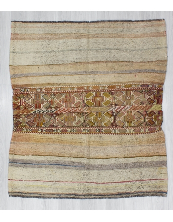 Vintage Small Decorative Turkish Kilim rug