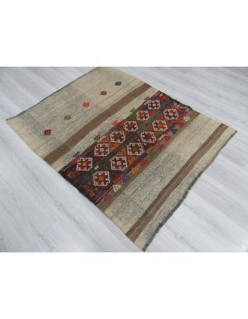 One of a Kind Decorative Small Kilim Rug