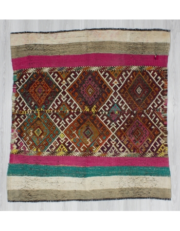 Unique Vintage Modern Small Kilim Rug