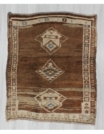 Vintage Brown Mini Turkish Rug