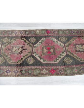 Handknotted Vintage Turkish Runner Rug
