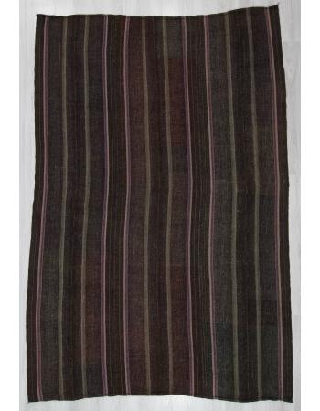 Striped Vintage Large Turkish Kilim Rug