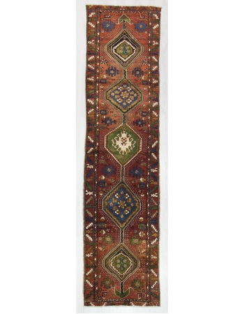 Vintage Decorative Turkish Runner Rug