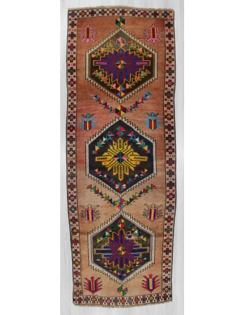 Decorative Vintage Turkish Herki Runner