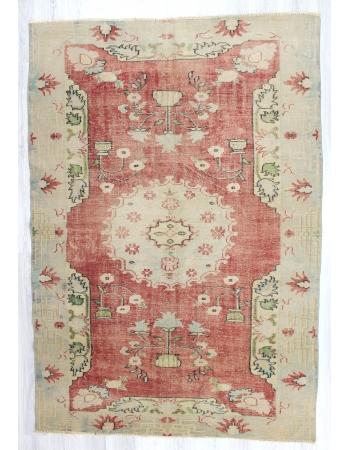 Decorative Vintage Washed Out Turkish Oushak Rug