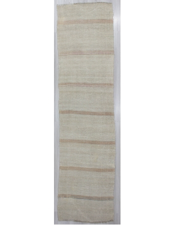 Striped Vintage Hemp Kilim Runner Rug