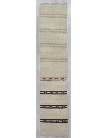 Decorative Striped Vintage Hemp Kilim Runner Rug