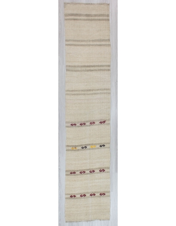 Striped Vintage Hemp Kilim Runner Rug