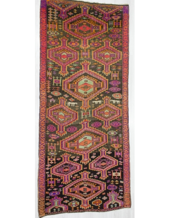 Vintage Handknotted Decorative Turkish Rug