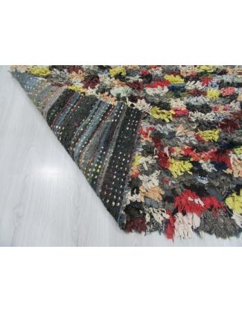 Decorative Vintage Colorful Turkish Tulu Rug