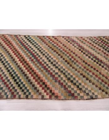 Vintage Distressed Turkish Deco Rug